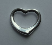 Sterling Silver Large Floating Heart Pendant 2.6g